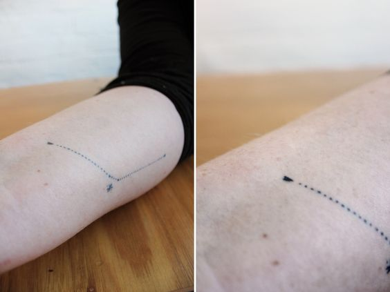 Stanislava Pinchuk Home-made tattoos... A map of 4 cities between Melbourne (Constellation): traded for a drawing