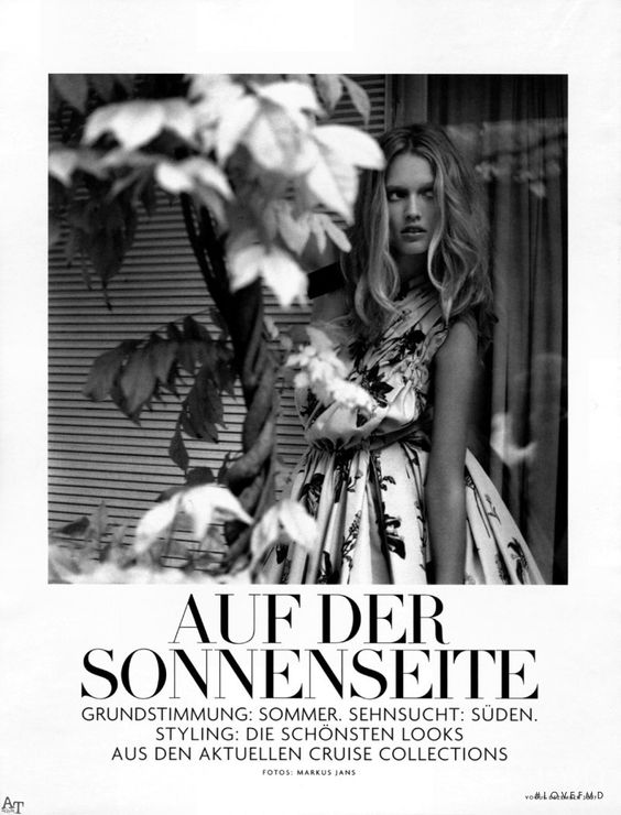 On the Sunny Side in Vogue Germany with Toni Garrn wearing Prada - (ID:1729)…