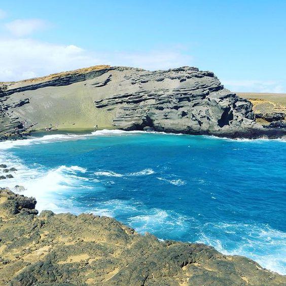 The blue water of green beach. #blue #greenbeach #hawaii #travel #ellacerulean #theconnective #water #ocean #explore #bigisland