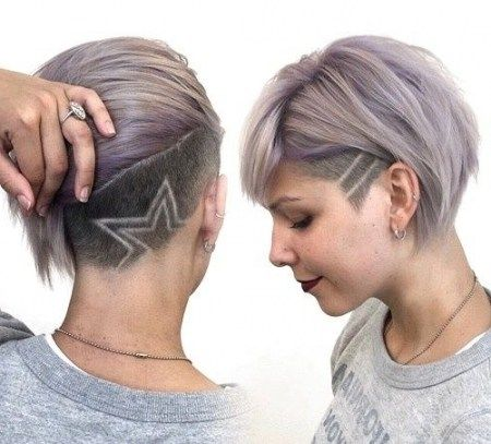 Undercut frau lange haare muster