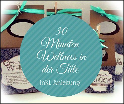 30 Minuten wellness in der Tüte, stampin up, Anleitung, gable box,