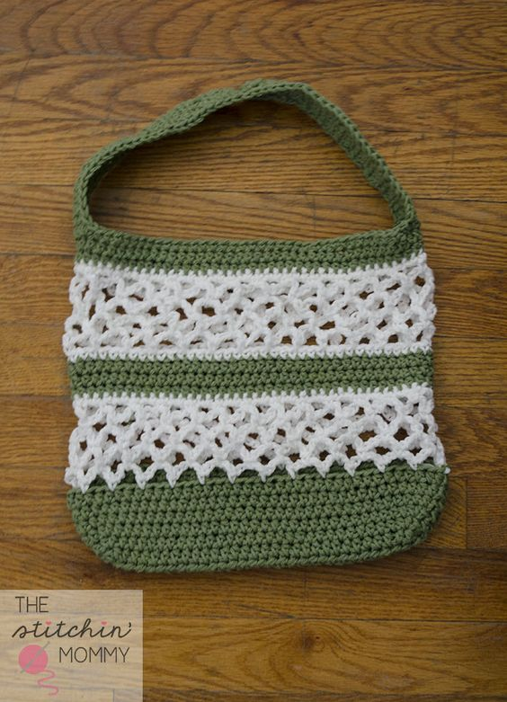 Free Crochet Pattern For Mesh Bag : Free pattern, Crochet bag patterns and Beautiful on Pinterest