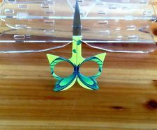 Butterfly Eyebrow Trimming Embroidery Scissors Women Beauty Cosmetic green Tool