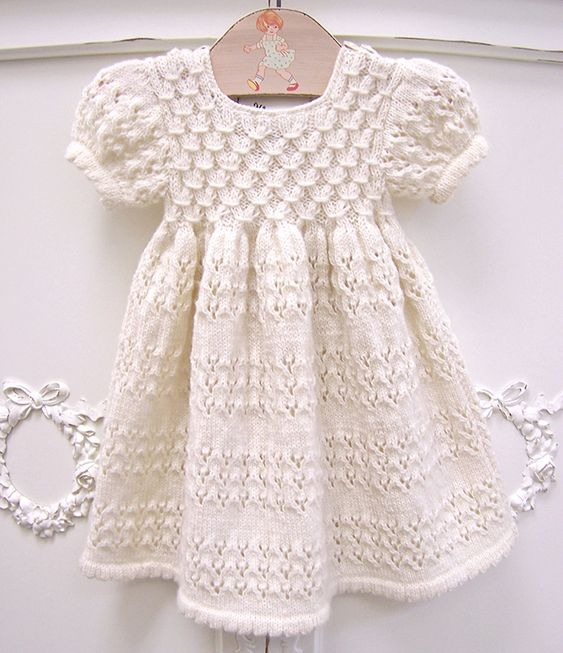 Knitting Pattern Baby Girl Dress : ??????? ??? ????? Adorable babies, Organic baby and Knitted baby