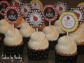 Teacher Appreciation Cupcakes: Cupcake Toppers Picks, Cupcakes Cake, Teacher Gifts, Daughter S Teachers, Cake Cupcakes, Gift Ideas, Teacher Cupcakes, Cupcake Crazy, Appreciation Cupcakes