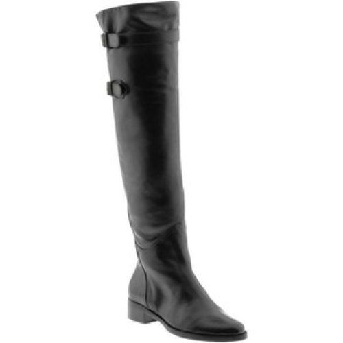 "STEVE MADDEN LAPEEPS SZ 5.5 BLACK LEATHER OVER KNEE BOOTS  Equestrian style attractive women's boots by Steven by Steve Madden Boots  decorated with outside zipper, straps and buckles on the top and bottom.  Soft black leather. Partial inside zip closure 10"".  Warm fabric lining. Outsole with tractions.  Condition:  LIKE NEW CONDITION!  WORN ONCE Style: over knee high boots. Size: 5.5, US. Heel: about 1 1/2"" Calf opening is 15"". Height: 20""from outsole."