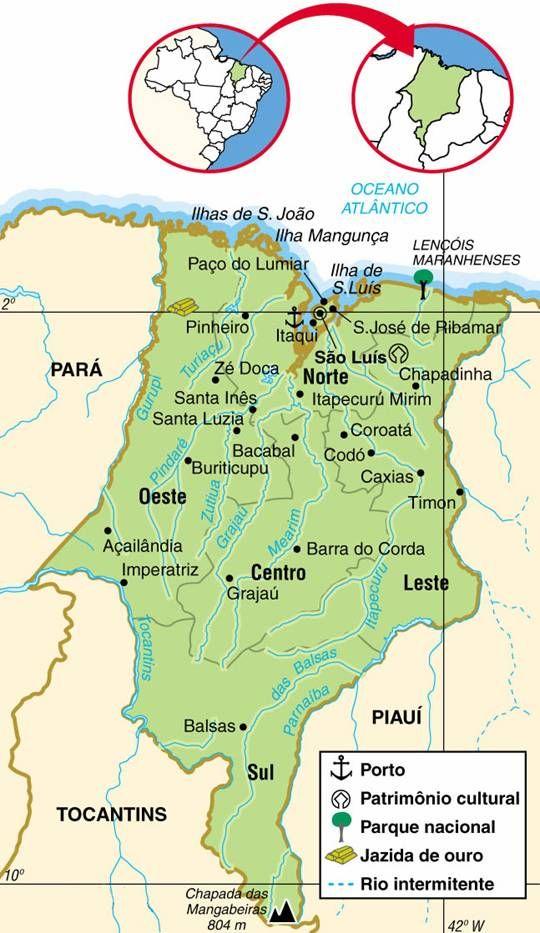Estado Do Maranhao Brasil Maranhao Turismo Maranhao Mapa