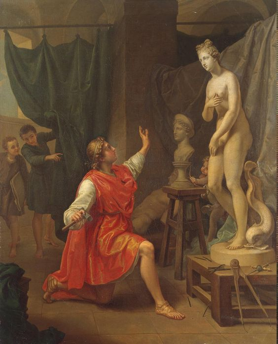 Laurent Pécheux: Pygmalion and Galatea, 1784.