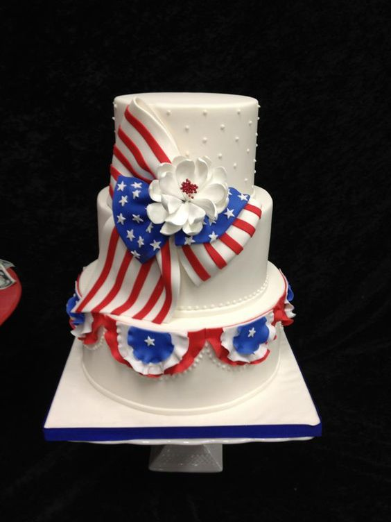 July 4th Cake by Elegant Temptations: