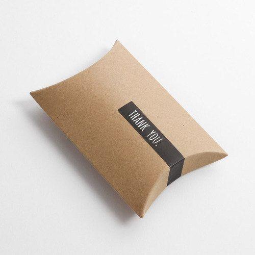 5 kraft pillow boxes kraft gift boxes