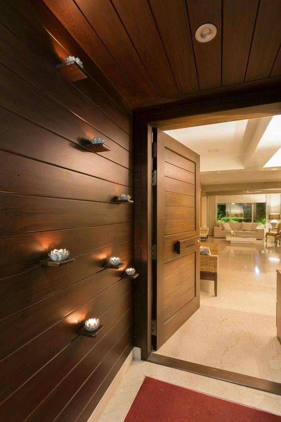 Wooden Work Design Ideas Bedroom Residence Lobby Interior