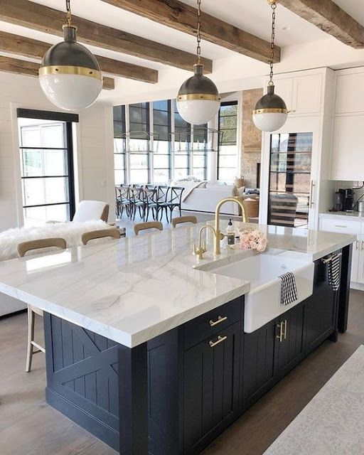 Glamorous Kitchen Cabinet Models Lady S Houses Farmhouse Kitchen Countertops Industrial Style Kitchen Home Decor Kitchen