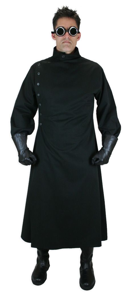 mad scientist howie lab coat black coats traditional