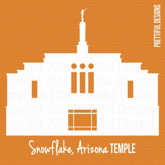 Snowflake Arizona Temple Silhouette LDS Mormon Clip Art png eps svg dxf cut file Vector by ILoveToSeeTheTemple on Etsy