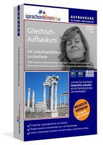 Griechisch lernen Griechisch Aufbaukurs Griechisch Sprachkurs Griechisch lernen B1 + B2 sprachelernen24.eu Griechisch Aufbaukurs CD-ROM oder Download Sie möchten fließend Griechisch sprechen können? Dann ist der Griechisch-Aufbaukurs genau das Richtige für Sie!
