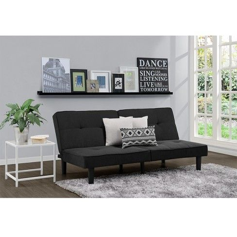 Futon Sofa Black Room Essentials In 2019 Sets
