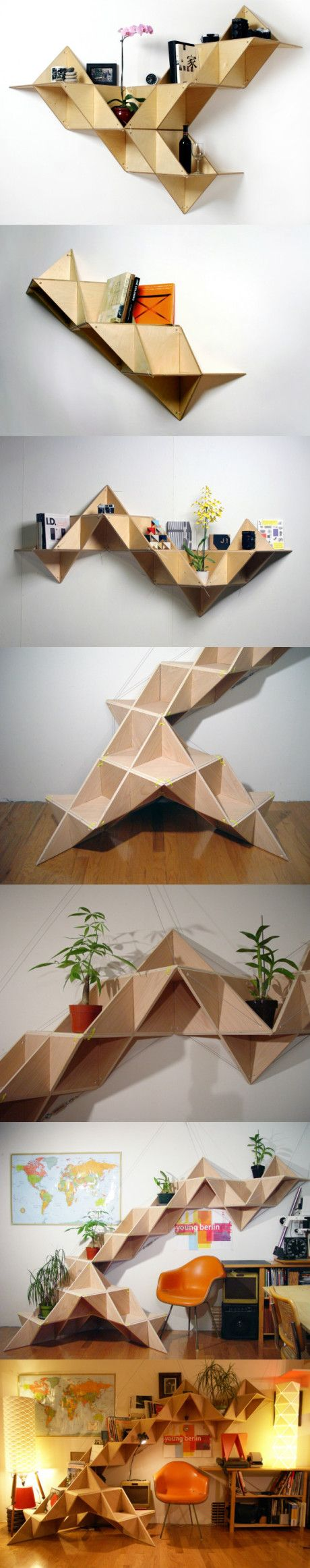 extensible triangle wall shelf