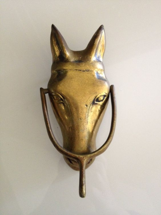 Antiques solid brass and the o 39 jays on pinterest - Horse door knocker ...