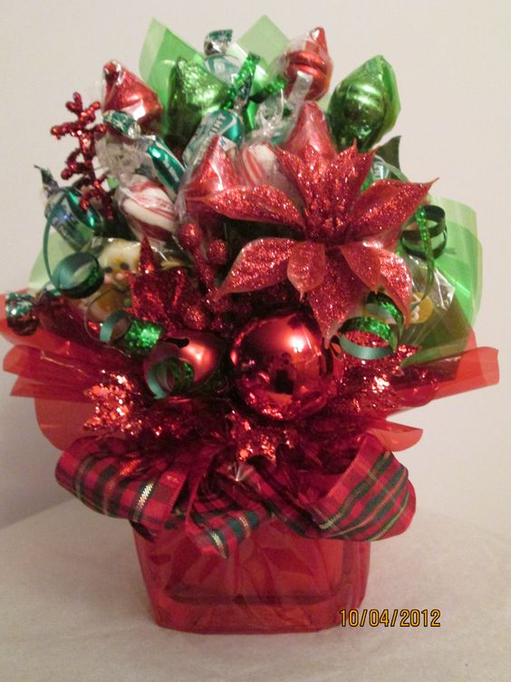Christmas small candy bouquet
