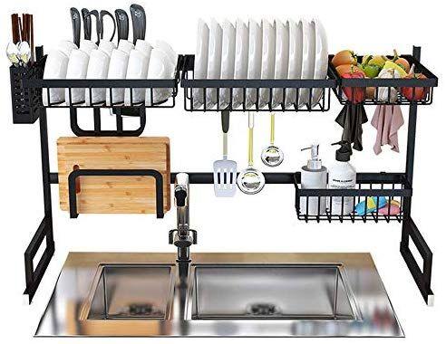 amazon com dish drying rack over sink
