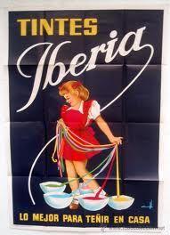 """Cartel publicidad """"Tintes Iberia"""""""