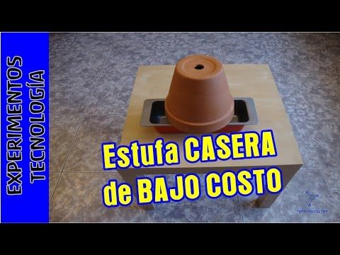 Calefaccion O Estufa Casera De Bajo Costo Youtube Projects To Try Butter Dish Projects