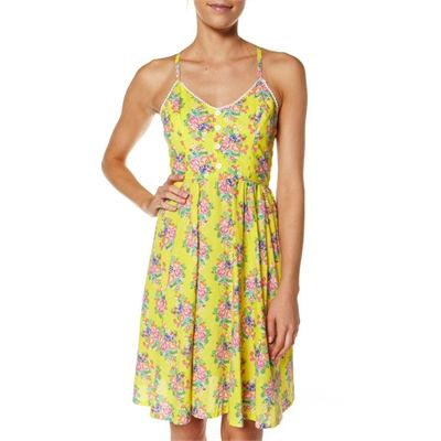 2 Chillies Fruit Tingle Print Party Dress By SurfStitch.