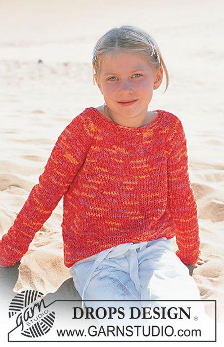 Pulôver DROPS para menina em Frutti Modelo gratuito de DROPS Design.