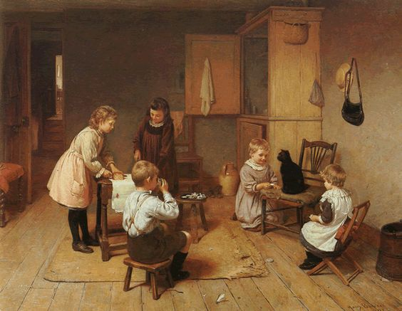 Tea Party for Kitty, Harry Brooker (1876-1902)