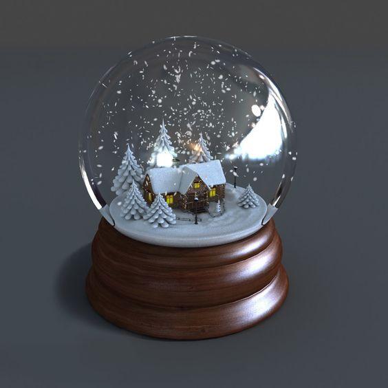 3D Model Of Snow Globe Animations - 3D Model