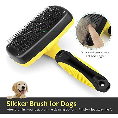 On Sale Now Baodatui Dog Brush 8211 Self Cleaning Slicker Brush Pet Grooming Brsuh For Dogs And Cats Shedding Tools For Small Medium Large Dogs And Cats W