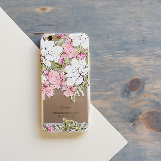 Clear TPU Case Cover - Angela Floral – Milkyway: