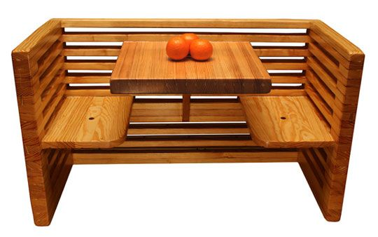 We could build your banquette out of reclaimed lumber using this structure as a guide ~