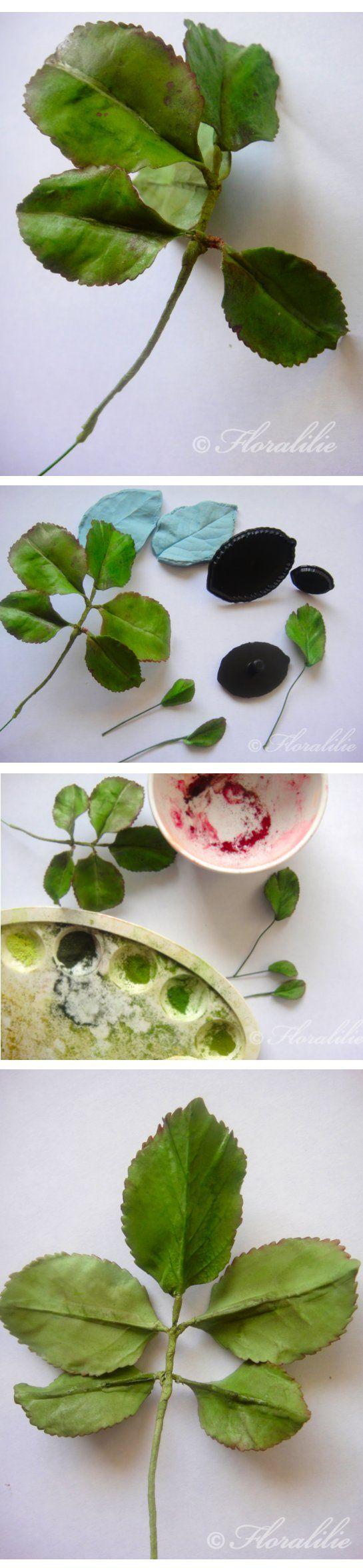 Rosenblätter aus Blütenpaste - Rose leaves from gumpaste by Floralilie