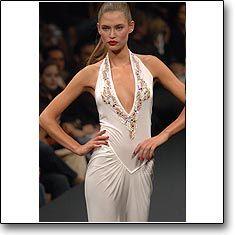 RoccoBarocco Fashion show Milan Spring Summer '06 © interneTrends.com model Bianca Balti