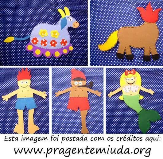 VÁRIOS PERSONAGENS DO FOLCLORE COM MOLDES!!!  Confira estes e vários outros personagens...    http://www.pragentemiuda.org/2013/07/12-personagens-do-folclore-feitos-em-eva.html