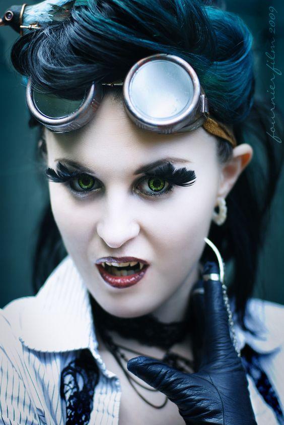 Steampunk Vampire by *Vampire--Kitten on deviantART - Photography: Fournier Film Studios (MM #694210)  Makeup & Model: Myself (MM #47235)  Hair & Lashes: Chrissy Lynn