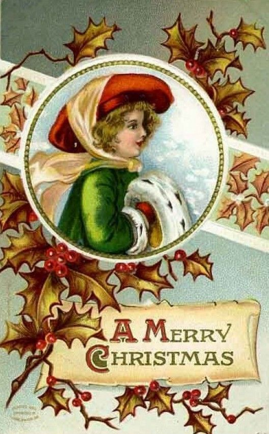Old Christmas Post Сards — (528x850)