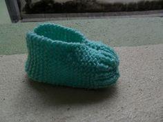 Tricotando carinho: Sapatilha de bebê super fácil
