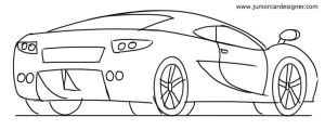 Sports Car 3/4 Rear View Drawing   For The Kids   Pinterest   Cars Rear View And Drawings