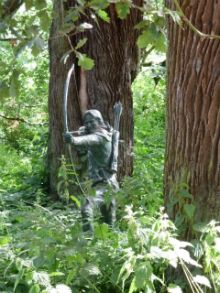 Walk in the footsteps of legendary outlaw Robin Hood in Sherwood Forest, Nottinghamshire.