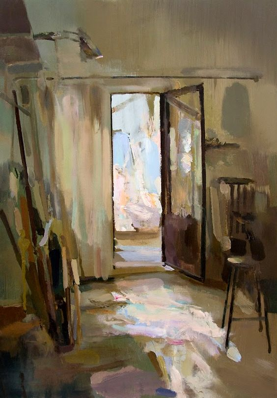 Interior #105 || Carlos San Millán, Oil on board, 45 x 65 cm.
