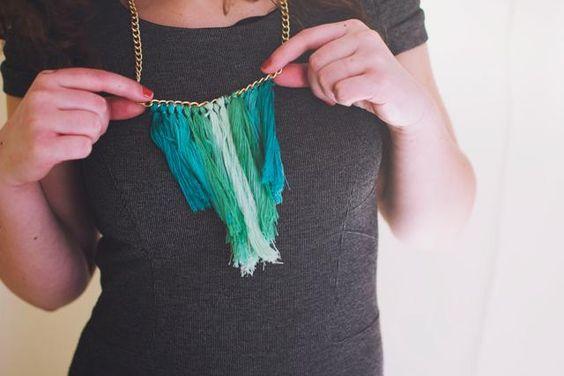 DIY Necklace : DIY Tassel Necklace.
