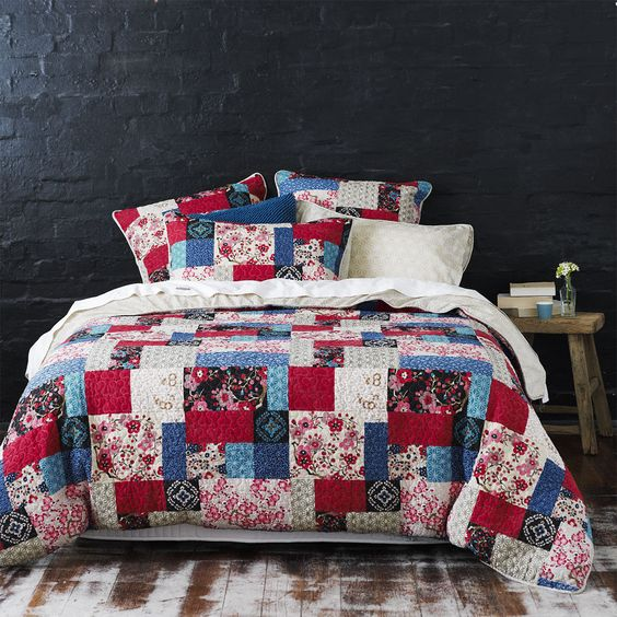 Adairs - Bedroom - Quilt Covers & Coverlets - Mercer + Reid - Yumi Patch Work