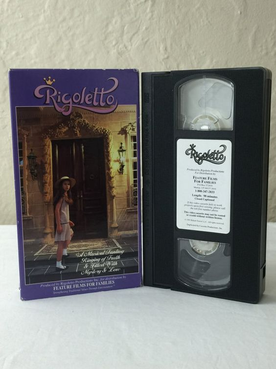 Rigoletto VHS Tape Movie Musical Fantasy & Mystery 1993 Feature Films For Families Closed Captioned by NostalgiaRocks