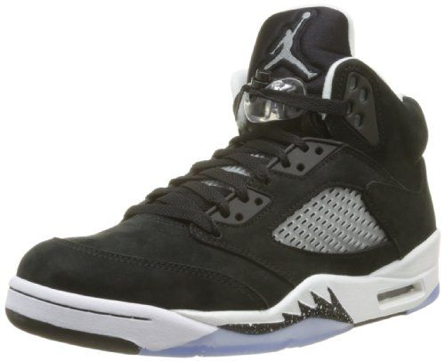 Nike Mens Air Jordan Retro 5 Oreo Basketball Shoes Black/Cool Grey/Black 136027