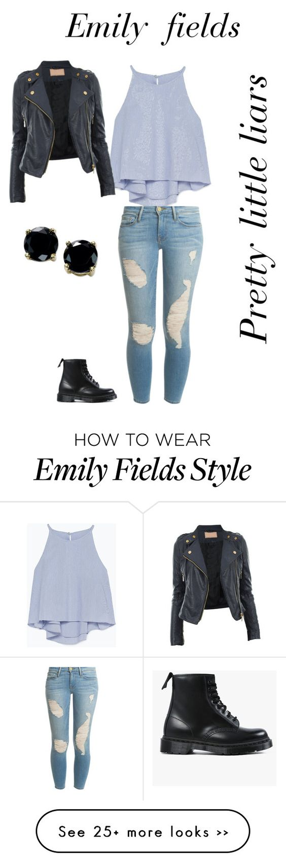 """Emily fields inspired look"" by desiv2001 on Polyvore"