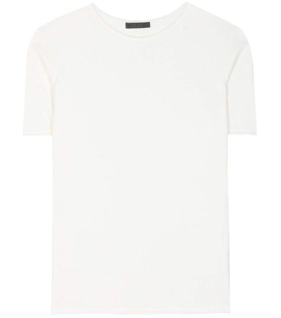 THE ROW T-Shirt Rohanna Aus Seide Und Baumwolle. #therow #cloth #tops