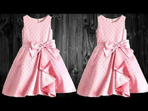 Diy Designer Cute And Simple Baby Frock Full Tutorial Youtube Girls Frock Design Baby Frocks Designs Kids Frocks Design