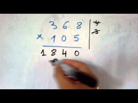 أسرع طريقة لضرب الأعداد الكبيرة مثل 845 245 Youtube Math Math Equations